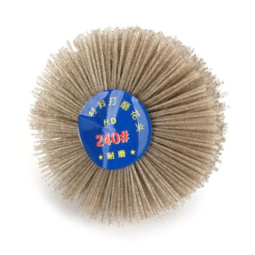 80mm Abrasive Nylon Wheel Brush Grinding Head 80~600 Grits Woodwork Polishing