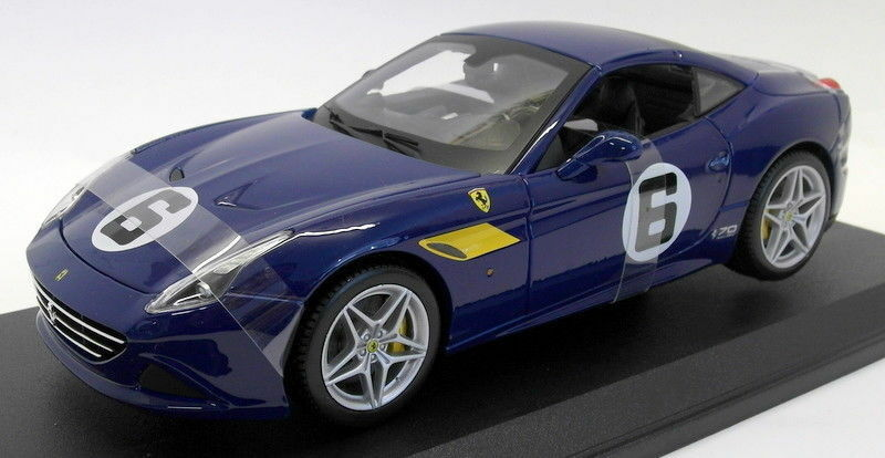 Burago 1 18 Scale Diecast - 18-76104 Ferrari California T 70th Anniversary bluee