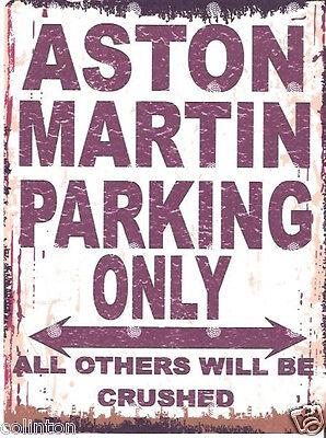 MASERATI PARKING SIGN RETRO VINTAGE STYLE 6x8in 20x15cm garage workshop art