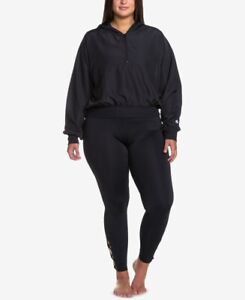 Soffe-Womens-Curves-Plus-Size-Cropped-Hooded-Jacket-Black