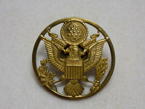 Vintage-WWII-US-Army-Enlisted-Man-039-s-Visor-Cap-Insignia