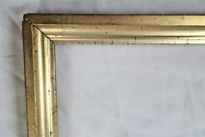Antique-Fits-8-X-10-034-Lemon-Gold-Picture-Frame-Wood-Fine-Art-COUNTRY-Primitive