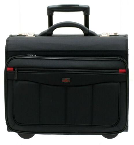Aktenkoffer Pilotenkoffer Laptop Trolley Schwarz 47 cm Davidts bei Bowatex