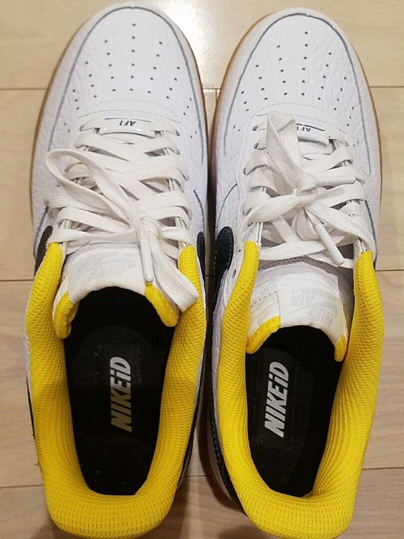 RARE NEW Nike Air Force 1  ID oroen State Warriors Sz 11 MEN BIANCO giallo nero  controlla il più economico