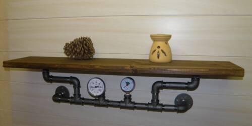 shabby Chic Steampunk Industrieregal Designregal pipe shelf Wandboard