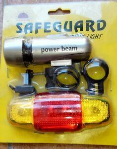 KIT-LUCI-FARO-5-LED-STOP-LUCE-ANTERIORE-E-POSTERIORE-PER-BICICLETTA-BICI-BIKE