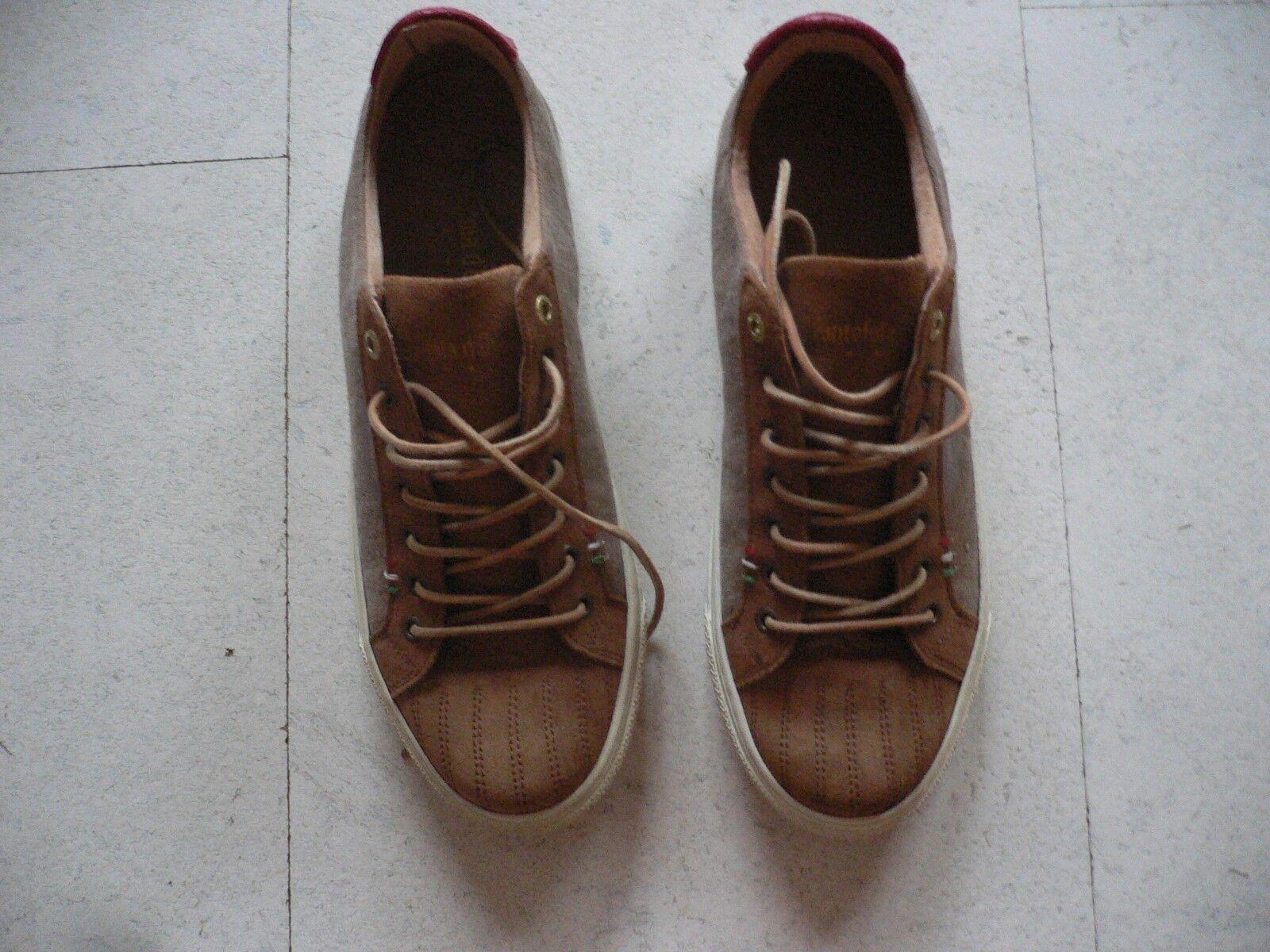 Pantofola d ´Oro Schuhe Sneaker braun karamell + Herren unisex Gr 41  110 NEU