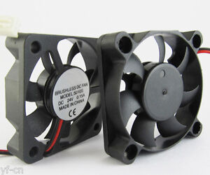 1pc 50x50x10mm 50mm 5010 24V DC Brushless Cooling Fan 2pin Connector