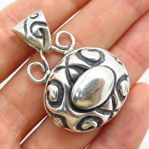 Vintage Large Oval Infinity Design Links Toggle Chain Necklace 925 Sterling Silver NC 1366