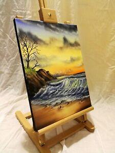 Peinture tableau, paysage a l`huile sur toile format 30/40 cm