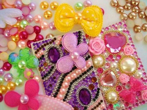 100 Half Pearl Flatback Embellishment//Bead//Craft//Scrapbooking B78-1CM-Pick Color