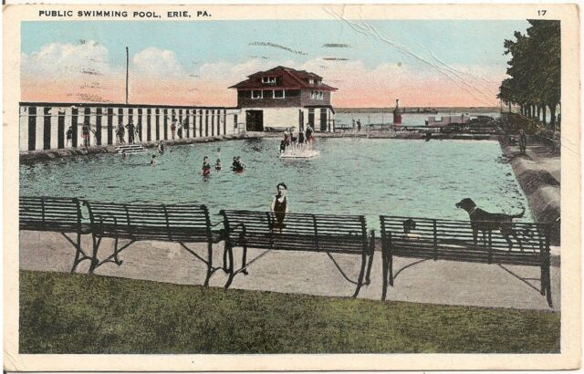 Postcard Glenwood Swimming Pool in the Delaware Water Gap