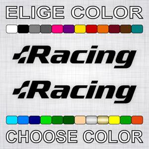 PEGATINAS-RACING-X2-vinilos-coche-autocollant-aufkleber-adesivi-sticker-auto-car