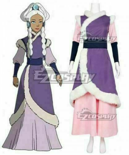 Details about  /Hot! Avatar The Last Airbender Princess Yue Cosplay Costume /&