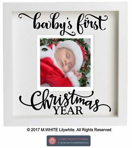 Babys First Christmas Sticker Add Own Photo Diy Box Frame Ikea