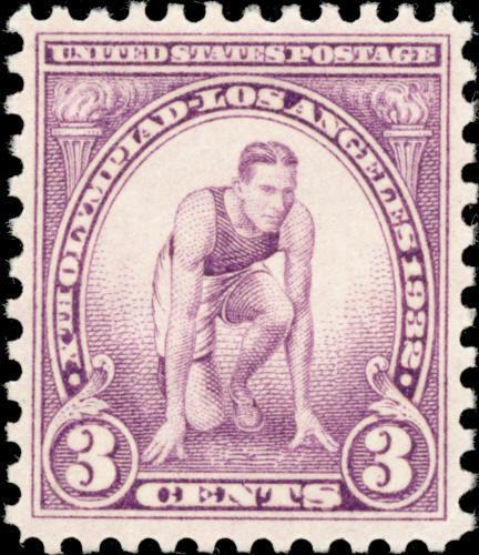 1932 3c Summer Olympics, Runner at Starting Mark Scott