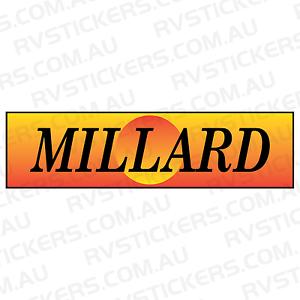 MILLARD SUNSET Caravan Decal Sticker Vintage Graphics Retro EBay - Graphics for caravanscaravan stickers ebay