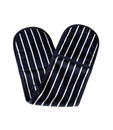100/% Coton Boucher Rayures Four Double Gant Mitt Titulaire épais résistant à la chaleur
