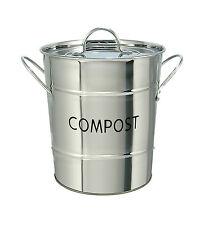 Eddington Stainless Steel Indoor Worktop Waste Compost Pail Bucket Bin Recycling