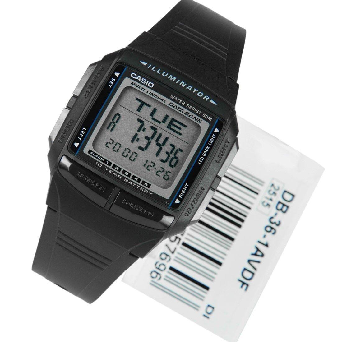 a2b4feb52a6 Casio Original New DB-36-1A Digital Watch 30 Page Databank DB-36 ...