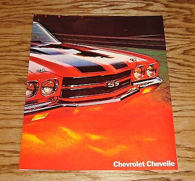 Fast Deliver Original 1970 Chevrolet Chevelle Facts Features Sales Sheet Brochure 70 Chevy Ideal Gift For All Occasions