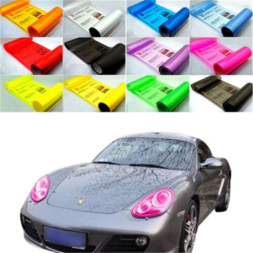 New Tint Vinyl Film Sheet Sticker For Car Smoke Fog Light Headlight Taillight