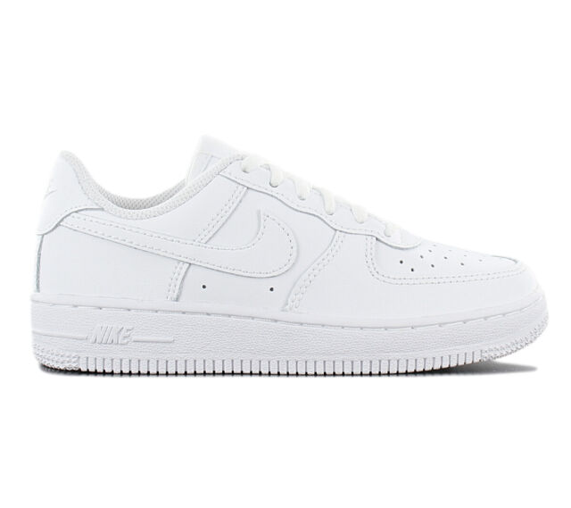 078a097f7121 Nike Air Force 1 Low Leather Ps Children s Sneakers 314193-117 White Shoes  New