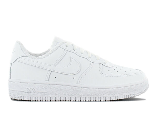 5775acbdd63 Nike Air Force 1 Low Leather Ps Children s Sneakers 314193-117 White Shoes  New