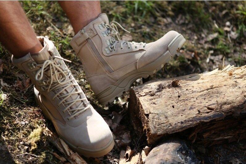 Armee Kampfstiefel Stiefel TACTICAL Zipper, Kampfstiefel Armee Einsatzstiefel Outdoor Stiefel 41 fe46d6