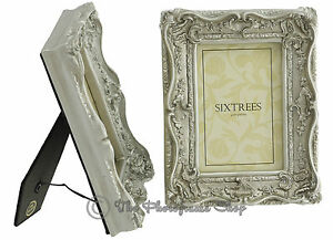 TWINPACK-Shabby-amp-Chic-Very-Ornate-Antique-Silver-Photo-Frames-for-6x4-pictures