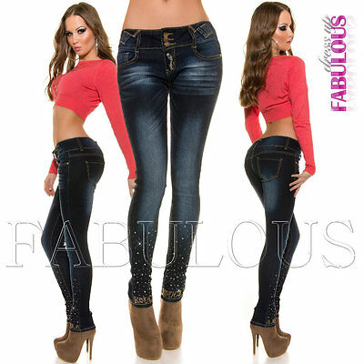 Sexy Designer Skinny Leg Women's Jeans Denim Size 6 8 10 12 14 XS S M L XL