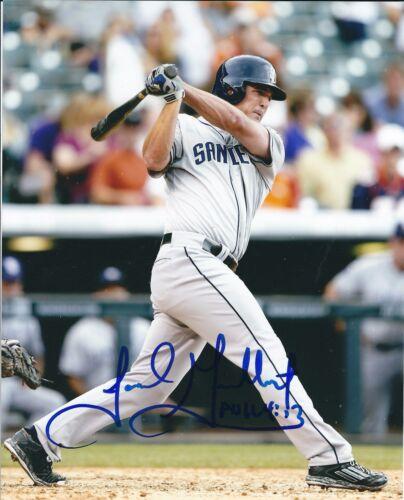 Signed 8x10 JAKE GOEBBERT San Diego Padres Autographed photo - COA