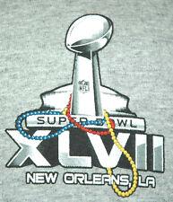 2013 NFL Super Bowl Raven Forty-Niners 49ers Adult Large Gray T-Shirt (L Champs)