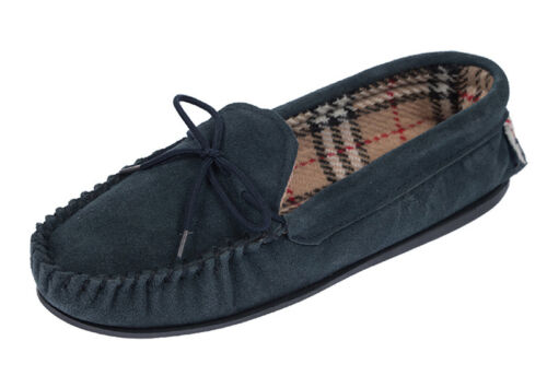 Womens Ladies Coolers Lodgemok Real Suede Leather Moccasin Slippers Sizes 4-8