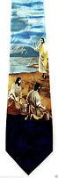 Jesus Preaches By Sea Mens Necktie Christian Religious Easter Gift Neck Tie