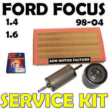MK1 Ford Focus 1.4 1.6 Oil Air Fuel Filters Spark Plugs Service Kit 1998-2004