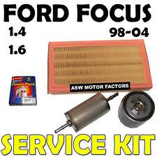 MK1 Ford Focus 1.4 1.6 Filtros De Combustible Aire Aceite Bujías Kit de servicio 1998-2004