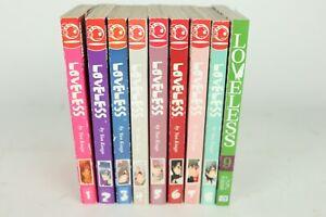 Loveless-by-Yun-Kouga-Volumes-1-9-English-Paperback-Manga-Lot-Tokyopop-Good-Cond