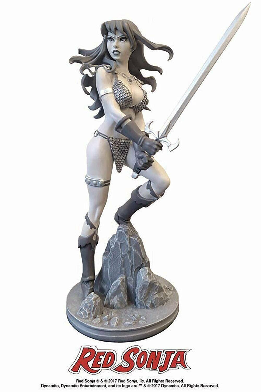 Dynamite Rouge Sonja par Ahommeda Conner Noir et  Blanc Statuette  meilleure qualité meilleur prix