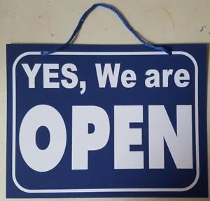 Open Closed Sign Double sided  Hanging Shop Window Door Flip Sign Waterproof