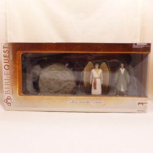 NEW-BibleQuest-Jesus-amp-The-Tomb-Action-Figure-Nativity-Character-Set-w-Angel