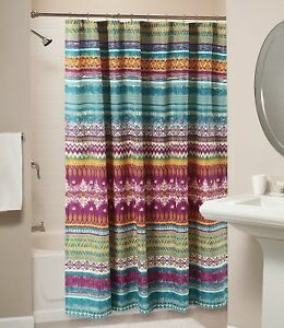 Image Is Loading Bath Room Fabric Shower Curtain Accessory Decor Machine