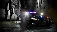 Dodge Charger Police Car - 42 X 24 Large Wall Poster Print
