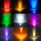 3mm Round Top Red Yellow Blue Green White Pink Uv Orange Warm White LED Light