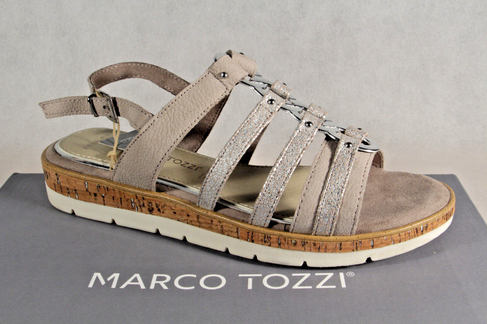 Marco Tozzi Sandals Ladies Sandals Tozzi Sneakers Taupe NEW 543bd9