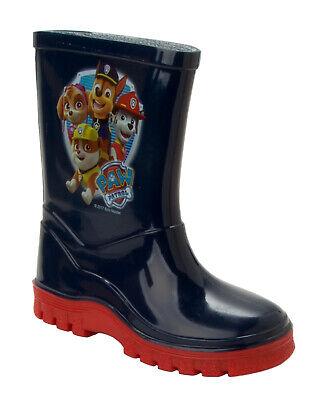 BOYS OFFICIAL PAW PATROL WELLIES BLUE WELLYS RAIN WELLINGTON BOOTS UK SIZE 5-10
