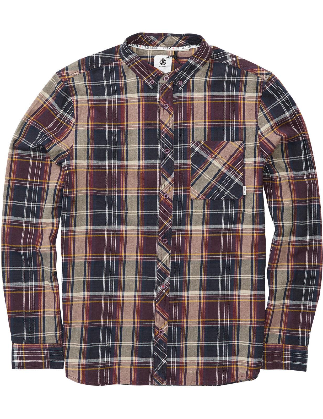 Elemento Buffalo LS Camicia a maniche lunghe a NAPA RED