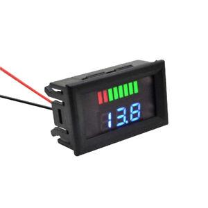 Universal 12V-60V Car LED Digital Voltmeter Voltage Meter Battery Gauge Switch