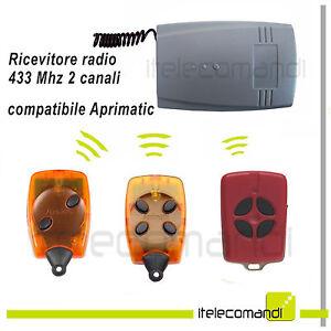 Ricevitore Radio Ricevente 433 Mhz 2 Canali Compatibile Aprimatic Tr2 Tm4 Tr4