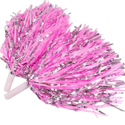 Cheerleader Pom Poms Waver Fancy Dress Costume Pompoms Dance Hen Party Decor FB